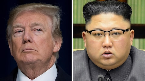 Montage photo avec Donald Trump et Kim Jong-Un.