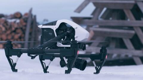 Un drone à l'extérieur
