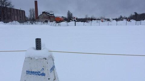 Le terrain de l'ancienne Fortissimo, à Drummondville.