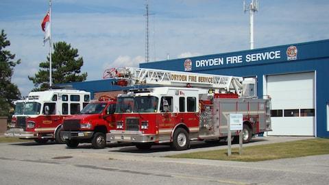 Caserne numéro un de la ville de Dryden en Ontario.