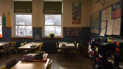 Une classe de l'école Notre-Dame-du-Rosaire de Sherbrooke