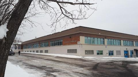 L'École secondaire Samuel-De Champlain photographiée en hiver