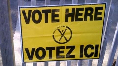 Une affiche d'Élections Nouveau-Brunswick.