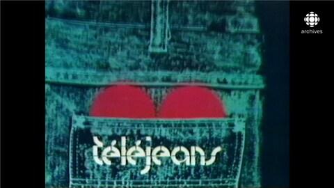 Titre Téléjeans sur la poche d'un jeans de laquelle dépasse un coeur