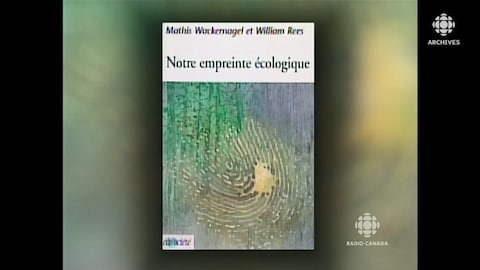 Couverture du livre « Notre empreinte écologique » des chercheurs Mathis Wackernagel et William Rees.