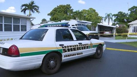 Une voiture de police de la police du comté de Broward