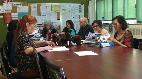 Enseignants de l'école St-Bernardin en formation sur le stress et l'anxiété chez les enfants
