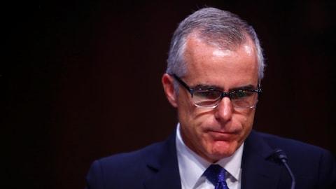 L'ancien directeur par intérim du FBI, Andrew McCabe
