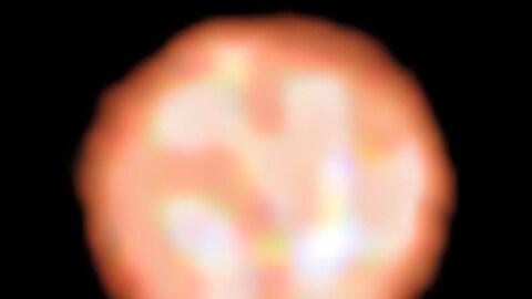 Cette image acquise par l'instrument PIONIER révèle la présence de cellules convectives à la surface de l'énorme étoile p1 Gruis.
