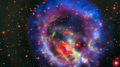 Une étoile à neutrons isolée dans le Petit Nuage de Magellan.
