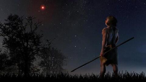 Il est fort probable que les humains aient observé la faible lumière rougeâtre de l'étoile de Scholz dans la nuit préhistorique.