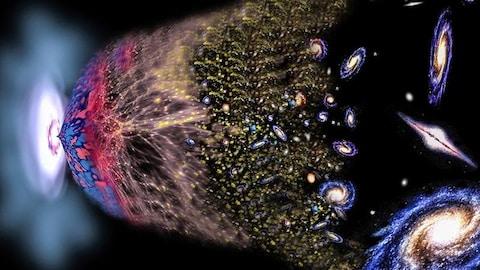 Illustration artistique du big bang formateur de notre Univers.