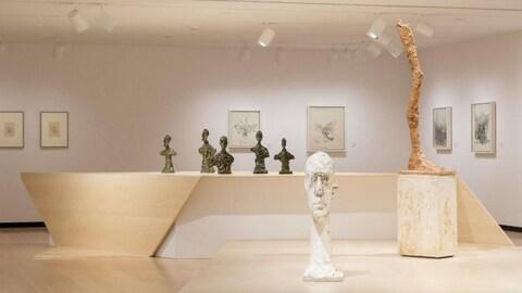 Des oeuvres d'Alberto Giacometti.