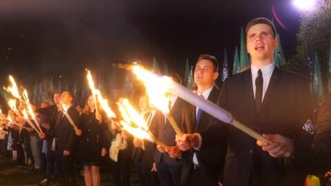 Des membres du groupe d'extrême droite La jeunesses de la Grande Pologne