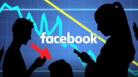 Illustration de la perte de valeur boursière de Facebook.