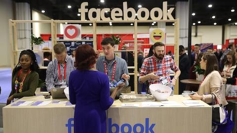 Facebook a installé un kiosque à la CPAC, conférence qui réunit les conservateurs américains.