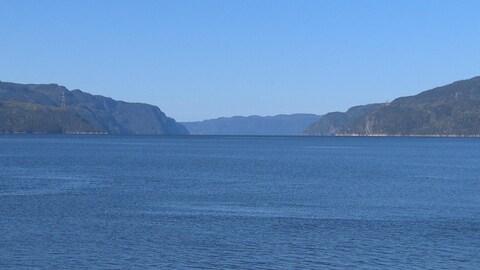 Le fjord du Saguenay.
