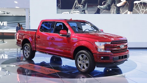 Une camionnette Ford F-150 2018 au Salon international de l'auto de Détroit, en janvier 2017