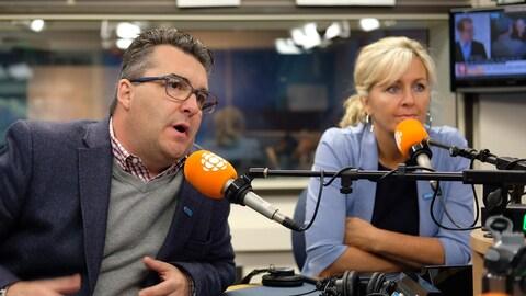 François Tremblay et Andrée Laforest en entrevue en studio