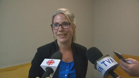 Geneviève Laurier en entrevue