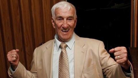 Gerard Dunn lors de son 80e anniversaire en 2006.