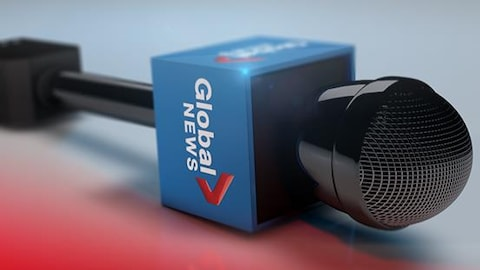 Un microphone de Global News