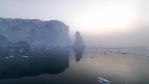 Paysage du Groenland en Arctique.