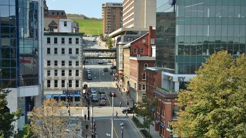 Le centre-ville d'Halifax en Nouvelle-Écosse.