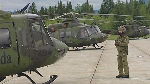 Les membres d'équipage de quatre hélicoptères de type Griffon se rendront en Irak.