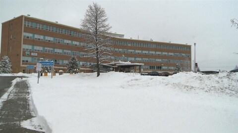 L'hôpital d'Amqui dans la Matapédia