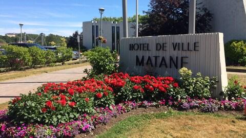 L'hôtel de ville de Matane