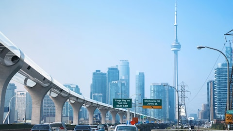 L'entreprise TransPod propose de construire un hyperloop entre Toronto et Windsor.
