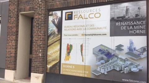 Les bureaux de Ressources Falco, à Rouyn-Noranda.