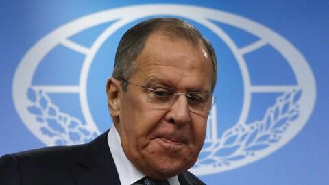 Le ministre russe des Affaires étrangères, Sergueï Lavrov, à Moscou.