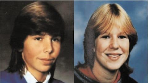 À gauche une photo d'un jeune homme et à droite celle d'une jeune femme.