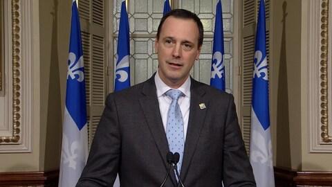 Le ministre de l'Éducation du Québec, Jean-Francois Roberge.