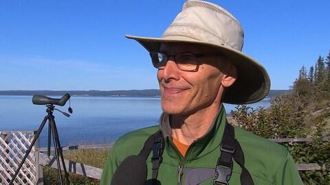 Jean-Pierre Barry a proposé une visite ornithologique guidée aux festivaliers.