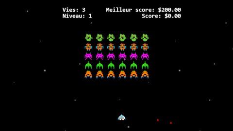 Une capture d'écran du jeu vidéo présenté sur le site web de la Banque du Canada.