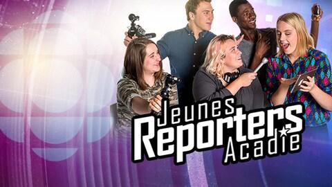 Habillage infographique thème de la troisième saison de Jeunes reporters Acadie.