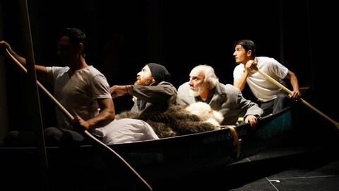 La pièce « Kanata », en répétition en 2016.