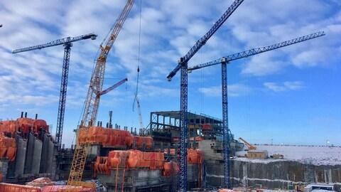 Le chantier de la centrale électrique de Keeyask