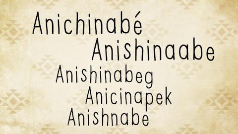 Les diverse graphies du nom du peuple autochtone de la famille linguistique et culturelle algonquienne.