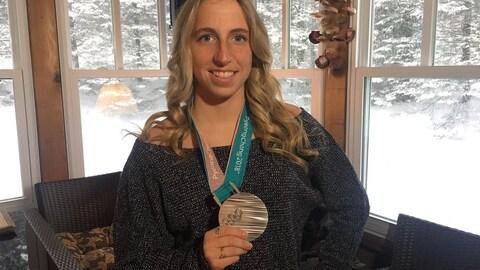 La planchiste Laurie Blouin est rentrée de Pyeongchang avec une médaille d'argent