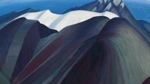 L'œuvre « Mountains East of Maligne Lake » de Lawren Harris