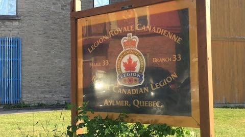 Affiche de la Légion royale canadienne à Aylmer