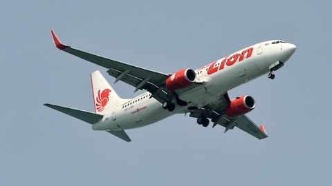 Avion Lion Air en vol.