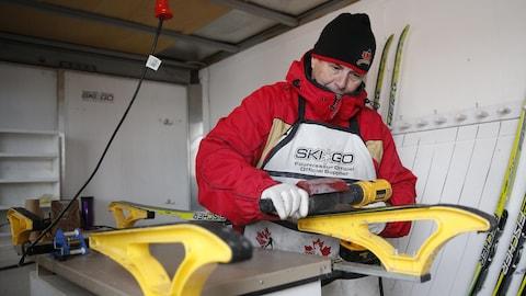 Luc Germain, entraîneur de l'équipe de ski de fond du Rouge et Or de l'Université Laval