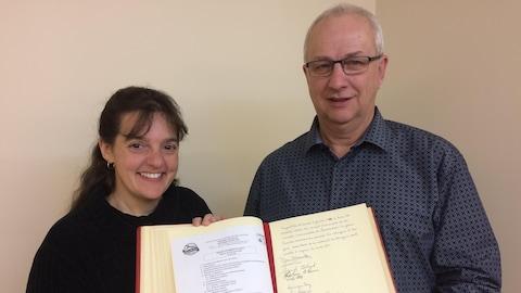 Lyna Pine et Daniel Barrette dirigent la nouvelle municipalité de Laverlochère-Angliers.