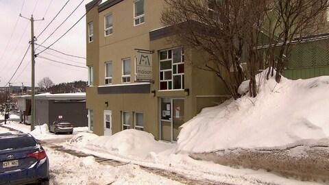 Devanture de la Maison d'accueil pour sans-abri de Chicoutimi
