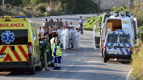 À Malte, les lieux de l'explosion du véhicule de la journaliste Daphne Caruana Galizia